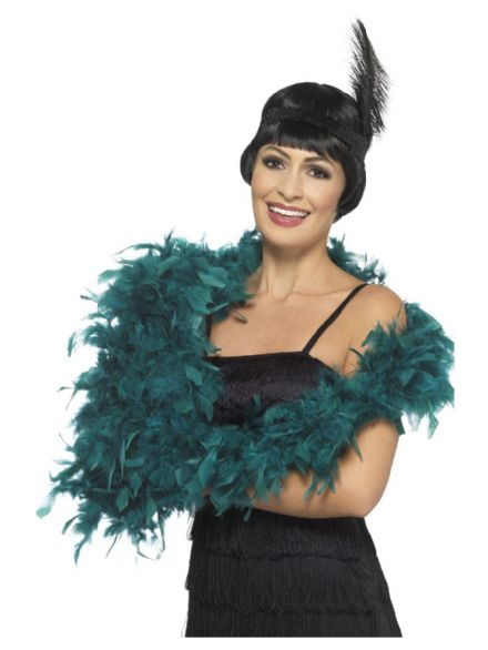 Deluxe Teal Green Feather Boa
